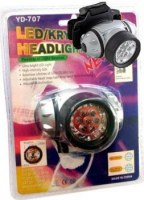 TORCHE LAMPE FRONTALE 7 OU 8 LEDS