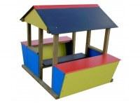 Portillon lames pour clôture d'aire de jeux