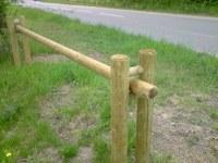 Barrière coulissante en rondins 3 m