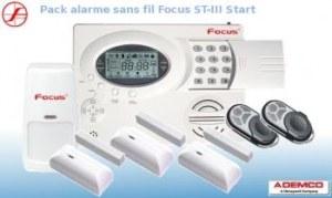 Pack alarme maison sans fil FOCUS ST-III Start