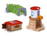 Lot de 3 Accessoires pour Trains Miniatures