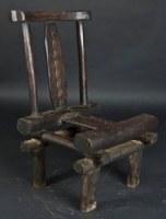 Tabouret ou chaise Baoulé