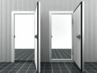 Portes tournantes et coulissantes de chambres froides