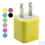 110-240v Chargeur USB AC pour iphone 5 & iPhone 4/4S- Rose, jaune, bleu