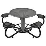 Table pique-nique ronde acier