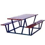 Table pique-nique acier et bois
