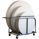 Chariot transport table ronde