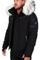 Doudoune veste homme hiver avec grosse fourrure