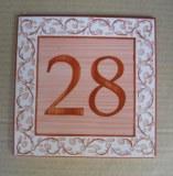 Plaques de maison avec numéros de rue
