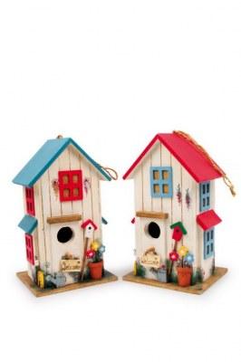 """Lot de 2 Maisons pour Oiseaux """"Villa des Couleurs"""""""
