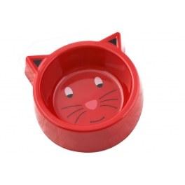 Gamelle pour chat - rouge - accessoire animalerie