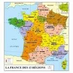 Carte de France géographique