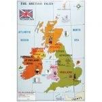 Carte des Iles Britaniques