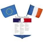 Pack Loi école Blanquer - Ecusson + Drapeaux France & Europe
