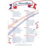 Plaque parole hymne français La Marseillaise