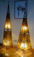 Lampe en peau