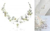 Collier 5 Brins Perles de Culture Fin ARGENT 925