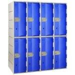 Casiers PEHD - 2 cases par colonne