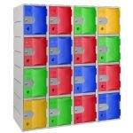 Casiers PEHD - 4 cases par colonne