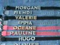 Lot de 280 lettres Strass pour bracelets