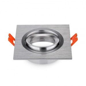 Spot carré encastrable Aluminium brossé