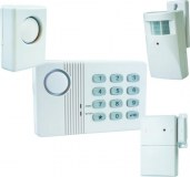 Alarme de maison sans Fil 4 à 5 pièces MN mouvement + intrusion + sirène extérieure