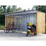 Abri à vélos bois et tôle