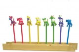 """Lot de 8 Crayons à Papier """"Afrique"""""""