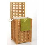 Coffre à linge en bambou avec sac ajusté - grande contenance - sac a