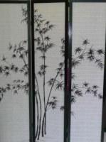 Paravent japonais traditionnel bambou 3 PANS