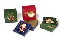 Lot de 4 Boîtes de Noël