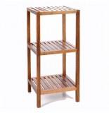 Etagère 3 plateaux - bambou - meuble de rangement