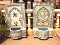 Fontaines en zellij et pierres