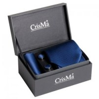 SET HOMME CRAVATE BLEU MARINE