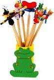 Lot de 10 Crayons avec Figurines sur Ressort
