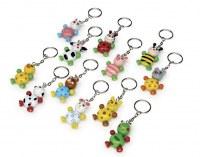 Lot de 12 Porte-clés «Bébé animaux»