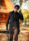 Manteau manches longues double boutonnage en laine
