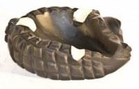 Petit cendrier en ébène forme Crocodile