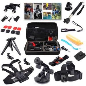 Malette Lot de 21 accessoires professionnels pour GoPro Hero4 Black/Silver