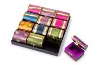 Lot de 12 Boîtes à Bijoux Colorées