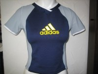 Adidas Evol.Work.Tee Bleu / Gris