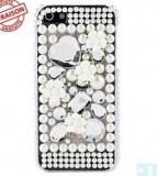 Grossiste,fournisseur chinois : Fleur et Perle Case Surface rigide pour iPhone 5