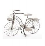 Vélo porte plantes - fer forgé - 5 plateaux en bois - meuble décora
