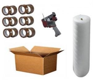 Pack d'emballage XL : Cartons, adhésifs et film bulle