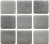 Emaux de verre 2,5cm x 2,5cm mélange gris