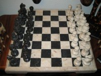 Echiquier MARBRE noir et blanc