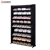 Herzberg HG-8077: Organisateur de Porte-Chaussures à 9 Niveaux Noire