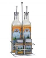 Euro Lady El-9099 Pots d'épices et des bouteilles d'oil, de vinaigre