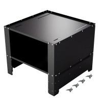 Herzberg HG-WP2 : Socle universel pour lave-linge avec compartiment de rangement Noire
