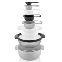 Herzberg HG-BOL8N1: Ensemble de bols et tasses à mesurer 8 en 1